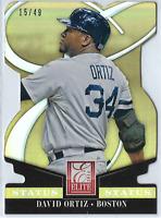 2014 Donruss Elite Status Die Cut #9 David Ortiz Red Sox 15/49
