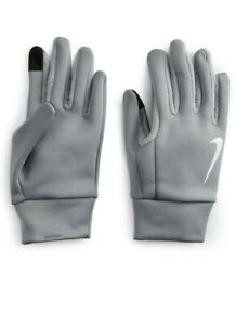 Nike Unisex Thermal Be Warm Touch Screen Gloves Grey/Reflective Size Medium