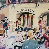 "ORIGINAL watercolour PAINTING covent garden   YouTube   14"" x11"" Marilyn Allis"