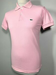 Mens Lacoste Vintage Pink Polo Shirt Size S *Exclusive* 9-563