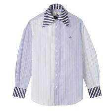 Vivienne Westwood - Pianist Light Blue Stripe Shirt - Size UK 42 - RRP £300