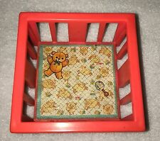 =Vintage Fisher Price Little People Pink Play Pen Playpen Baby Bed Crib Nursery
