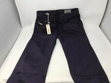 Mens Diesel 008QU Darron Regular Slim-Tapered Purple Jeans Size W30 L32 (6A)