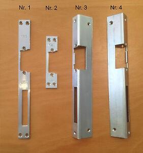 Schließblech für elektrischer Türöffner E-Öffner in 4 Ausführungen