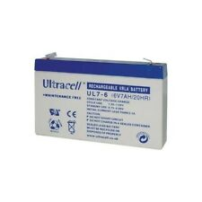 Ultracell UL7-6 : Batterie au plomb étanche 6V 7AH : 151x34x94mm (7000mAh)