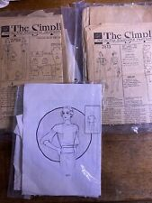 1930s And 1940s Vintage Sewing Pattern Lot Simplicity 2788, 2813, Book Pattern