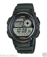 AE-1000W-3A Green Casio Men's Watches Standard Digital Black 10-Year Battery