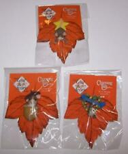 Charming Tails Pins - Leaf & Acorn Club Member Exclusive - Set of 3 - New in Pkg