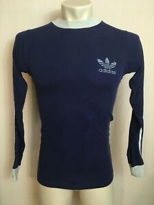 ADIDAS JERSEY LONG SLEEVE VINTAGE RARE MADE IN WEST GERMANY WHITE CLASSIC SOCCER
