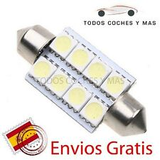 2 X BOMBILLAS LED COCHE FESTOON C5W 41MM 42MM 8 SMD 5050 INTERIOR MATRICULA