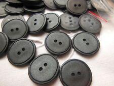 lot 20 boutons gris effet satiné mercerie 1,7 cm sur 1,8 cm couture ref 112