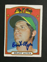 Brant Alyea A's Athletics Signed 1972 Topps baseball card #383 Auto Autograph 3