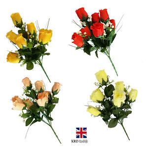 7 Heads Artificial Silk Rose Flower Bouquet Wedding Home Decor Mothers Day Gift