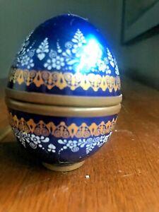 Handmade Austria Email Studio Steinbock porcelain enamel egg trinket box