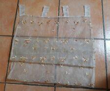 Tenda Bianca con Ricami Floreali 60 x 150 cm