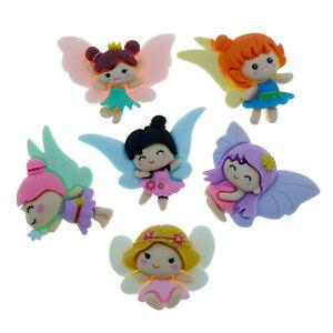 6pcs Baby Flower Fairy Resin Flatback Cabochons Embellishment Decoden Craft