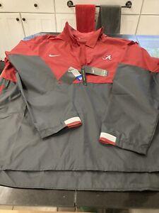 MENS Nike Alabama Crimson Tide XXL LONG Sleeve 1/4 Zip On Field coach Jacket NWT
