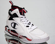 Champion Zone 93 High Leather Men's White Black Red Lifestyle Sneakers Shoes