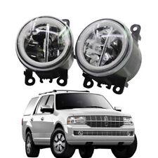 LED Fog Light + Angel Eye Rings Daytime Running Lights Fit For Lincoln Navigator