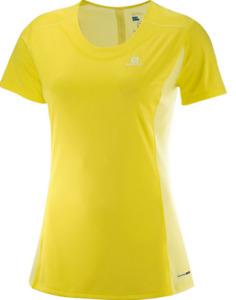 Salomon Women's Agile Heather Tee Short Sleeve Running Shirt