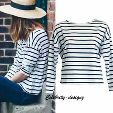 Tunic Long Sleeve Striped Tops for Women