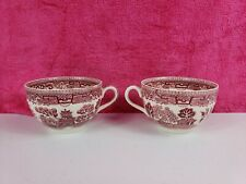 Vintage Lot Of Churchill Red Willow Tea Cup 2 pcs.