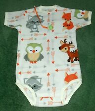 "Adult BABY FLEECE BODYSUIT ANIMAL BUDDIES  44"" CHEST 38"" torso"