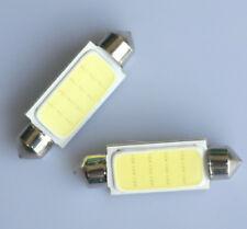2x Festoon 41mm 42mm C10W PLASMA COB LED SIZE interior WHITE SMD Number Bulb 12V