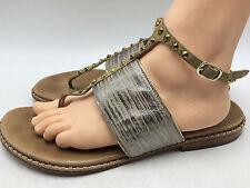 1C9 Donald J Pliner Lacy Flip Flops Sandals  Casual Flat Women Shoe Sz 9.5M $228