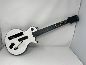 Nintendo Wii Guitar Hero White Gibson Les Paul Wireless Controller NO strap