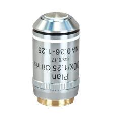 100X microscopio compuesto de aceite Infinity Darkfield PLAN objetivo W Iris Diafragma