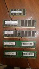 Lot of 5 RAM Computer/Laptop Memory Mod- Black Diamond, Nanya, Micron & Samsung