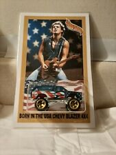 "BRUCE SPRINGSTEEN ""BORN IN THE USA"" CHEVY BLAZER  CLASSIC ROCK CUSTOM HOTWHEELS"