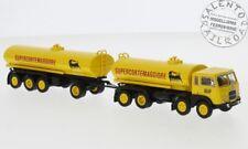BREKINA 58452 camion Fiat 690 Millepiedi cisterna con rimorchio AGIP Supercortem