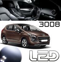 Peugeot 3008 Pack 9 Ampoules LED Blanc Eclairage Plafonnier et sols tapis