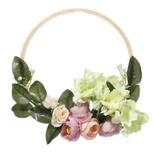 FARMHOUSE FLOWER GARLAND LEAVES WREATH FOR FRONT DOOR WEDDING HOME HANGING DECOR