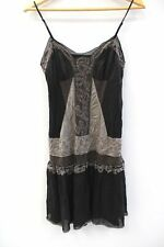 Ladies KAREN MILLEN Black Cami SILK Beaded Dress UK 10 EU 38 Preloved - BB8