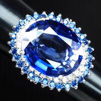 VIOLET BLUE TANZANITE RING 24.60 CT. SAPPHIRE 925 STERLING SILVER WOMAN SZ 6.25