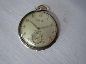 "10k Gold Filled Gruen ""Precision"" Veri-Thin Pocket Watch, 17j, 10s. WORKS"