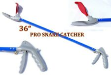 "36"" Pro SNAKE TONGS Reptile Grabber Rattle Snake Catcher WIDE JAW Handling Tool"