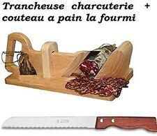 Trancheuse guillotine à saucisson charcuterie et son couteau a pain