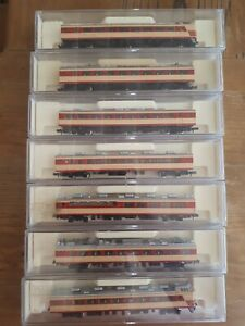 Kato 485 series, 7 car passenger limited express set. 'Midori'.  Boxed. N scale