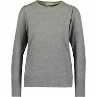 BARTOLINI Women's Puff Sleeve Jumper, Merino Wool Blend, Grey, size XL / UK 16