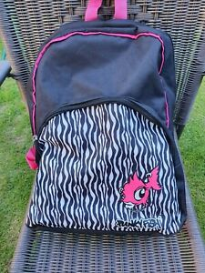 rare punky fish rucksack black / pink  in used condition backpack