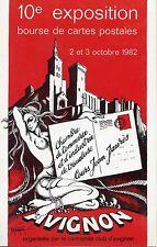 POSTCARD  ILLUSTRATEUR DURU DETORQUA 10° EXPOSITION CARTES POSTALES AVIGNON 1982