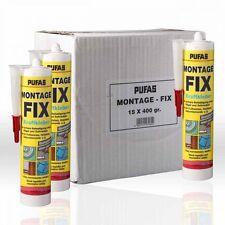 15 x Pufas Montage-Fix 400g Montagekleber Montageklebstoff