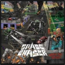Space Chaser-Watch the Skies Limousine Neon Yellow VINILE thrash ala Old Gama Bomb