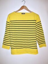 Rare Saint James L'Atelier Breton Striped 3/4 Sleeve Top SM Made in France Tee