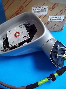 GENUINE LEXUS ES350 SIDE VIEW MIRROR DRIVER SIDE 87906-33140-B1