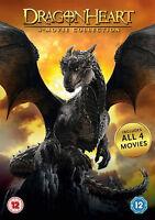 DRAGONHEART COMPLETE 1-4 DVD Sorcerer's Curse Battle For the Heartfire New R2